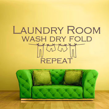 rvz935 Wall Vinyl Sticker Bedroom Decal Words Sign Quote Laundry Room