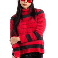 Vintage 90's Mindy Striped Turtleneck - M/L