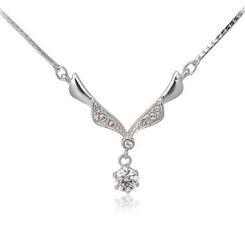 ITALINA RGP Necklace with Wing Pendant (Silver)