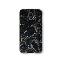 Samsung Galaxy S5 Case, Black Marble Print 3d-sublimated, Mobile Accessories Marble 04.