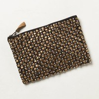 Beaded Matinee Pouch by Anthropologie Gold One Size Clutches