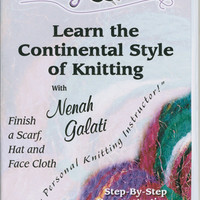 Knitting Korner Learn The Continental Style Of Knitting DVD-