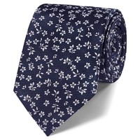Classic navy floral tie | Handmade ties from Charles Tyrwhitt | CTShirts.com