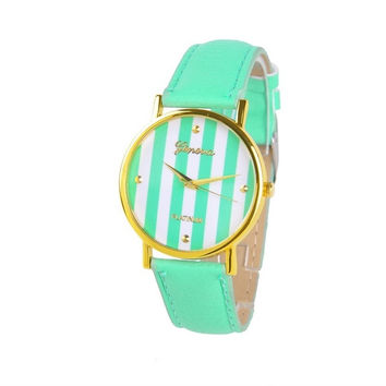 2014 New Fashion Leather Strap 12 Colors Super Design Casual Geneva Wrist Watch for Women Dress Boys Girls watches = 1931571012