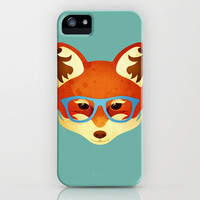 Hipster Fox iPhone Case by Compassionate Tees | Society6