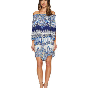 Hale Bob Cruise Control Rayon Woven Off Shoulder Dress Navy - Zappos.com Free Shipping BOTH Ways