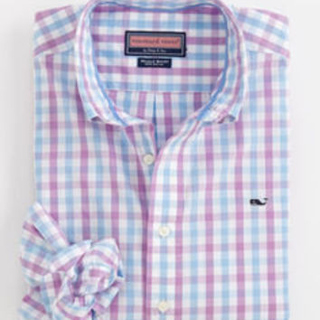 Men's Sport Shirts: Whale Collection: Downbound Check Button Down Shirt – Vineyard Vines