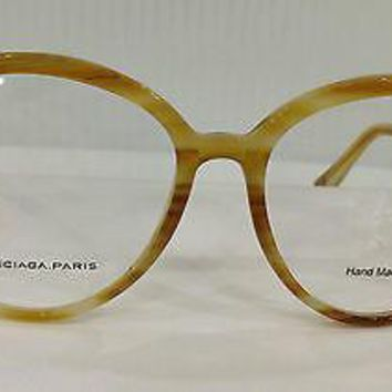 Balenciaga Paris Bal 0090 Col D0Q Honey Plastic Eyeglasses 53mm 16mm 140mm New