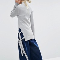 ASOS | ASOS Jumper with High Neck and Side Ties at ASOS