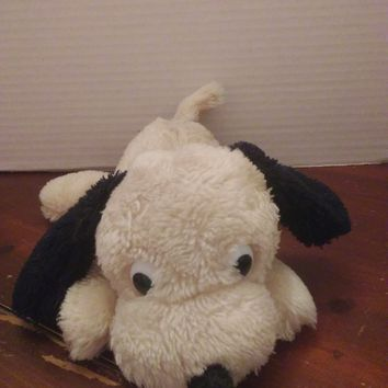 vintage dakin beige and black drooper puppy dog plush