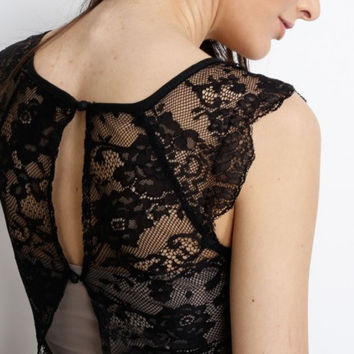 Laced Back Top