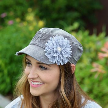grey denim womens Hat