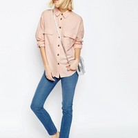 ASOS Casual Shirt With Raw Edge