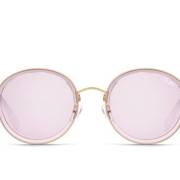 Quay Firefly Violet Sunglasses / Pink Mirror Lenses