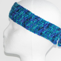 Free Shipping in U.S.A - Blue Wonder - Blue Crochet Headband - Teens Women Girls - Headband Ear Warmer - Sporty Headband - Summer Spring