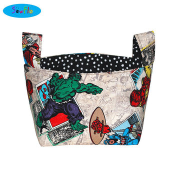 NEW! Fabric Storage Bin-Bedroom Storage Bin-Room Organization-Marvel Bin-Hulk Basket-Avengers Storage Container