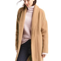 Plush shawl collar coat | Gap
