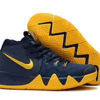 Nike Kyrie Irving 4 IV Navy/Yellow Sport Shoes US7-12
