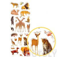 Giraffe Camel Lion Squirrel Flamingo Elephant Shaped Mixed Animal Themed Photo Stickers