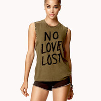 No Love Lost Muscle Tee