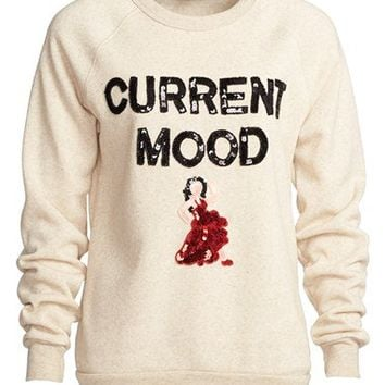 Bow & Drape 'Current Mood' Sequin Sweatshirt (Women) | Nordstrom
