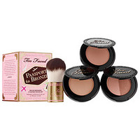 Passport To Bronze Deluxe Bronzer & Flatbuki Brush Set - Too Faced | Sephora