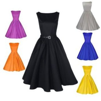 6 style Vintage Rockabilly Retro Swing 50s 60s pinup Housewife Prom party Dress