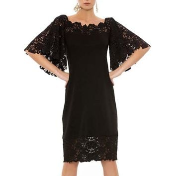 Black Dress Lace Sleeves