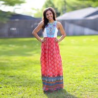 Multicolor Printed Tank Maxi Dress