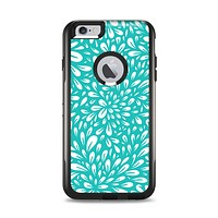 The Teal and White Floral Sprout Apple iPhone 6 Plus Otterbox Commuter Case Skin Set