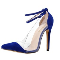 Mary Jane High Heels Corset Pointed Toe Party Womens Leather Velvet Pumps Ladies Wedding Shoes US Size 4-11 302-27A-VE