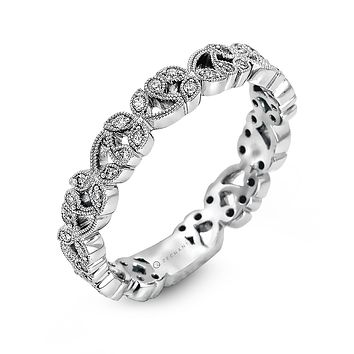 14k White Gold .15ct Diamond Right Hand Ring