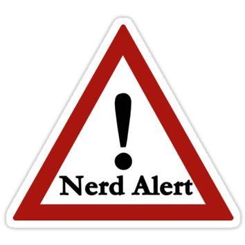 'Nerd alert' Sticker by lovelyLOUser