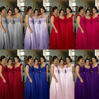 Long Formal Evening Cocktail Wedding Military Ball Gown Bridesmaid Prom Dress Party {Custom Colors Available} {Free Shipping}