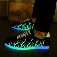 Light Up Shoes Sneakers LED Glowing Flashing Ankle Boots