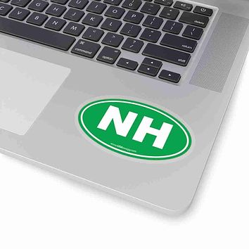 New Hampshire State Shape Sticker SOLID GREEN