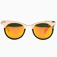 Retro Spring Time Black Gold Sunglasses