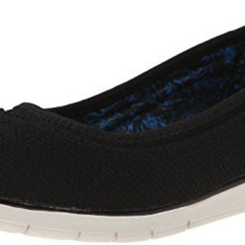 BOBS from Skechers Women's Pureflex Skimmer Flat, Black, 7 M US