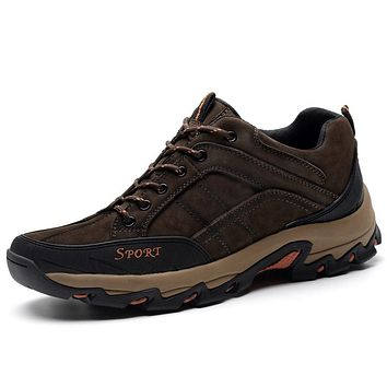 Sale Autumn Winter Hiking Shoes Genuine Leather Outdoor Trekking Men Boots Lace-up Climbing Mens Hunting Sneakers Male Walking