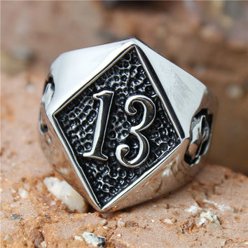 Lucky 13 Diamond Pattern with Skull Accents