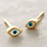 Eyeing Earrings by Anthropologie in Blue Motif Size: One Size Earrings