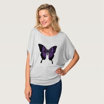 Purple Butterfly Shirt For Women