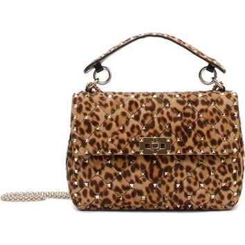 VALENTINO GARAVANI Rockstud Medium Genuine Calf Hair Shoulder Bag | Nordstrom