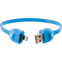UBER 13162 Lock & Go Micro USB Charge & Sync Bracelet-Style Cable, 7 (Blue)