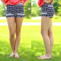 Travelers Diary Patterned Shorts