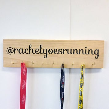 Custom Engraved Running Medal Hanger - Instagram/ Tumblr