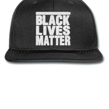 black lives matter embroidery hat  - Snapback Hat