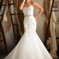 Mori Lee 1920 Beaded Fit and Flare Wedding Dress
