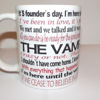 Vampire Diaries Quotes on a Mug Coffee Mug