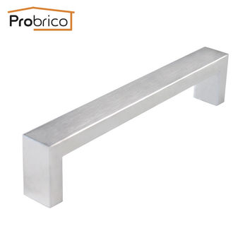 Probrico 10 Pcs 10Mm*20Mm Square Bar Handle Stainless Steel Hole Spacing 160Mm Cabinet Door Knob Drawer Pull Pddj30Hss160